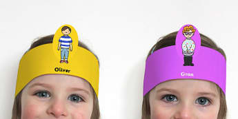 Oliver's Vegetables Role Play Headbands - roleplay, props, story