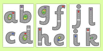 Road Themed Letter Formation - road, themed, letter formation, theme, letter, formation