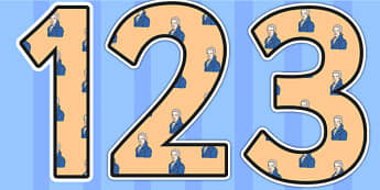 William Wilberforce Themed Display Numbers Display Numbers - william wilberforce, display numbers, themed numbers, classroom numbers, numbers for display