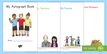 End of Year Autograph Booklet - End of school year, end of year, end of school, graduation, autograph booklet,