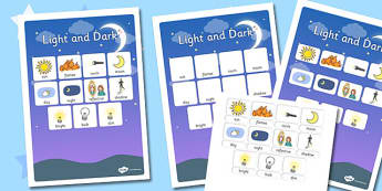 Light and Dark Vocabulary Poster - light, dark, vocabulary
