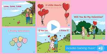 Valentine's Day Songs and Rhymes PowerPoints Pack - EYFS, Early Years, Valentine's Day, love, caring, St Valentine, February 14th.