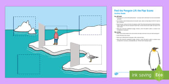 Find the Penguin Lift the Flap Scene Busy Bag Resource Pack for Parents - Lost and Found, Oliver Jeffers, polar regions, baby, babies, arctic, antarctic, penguin