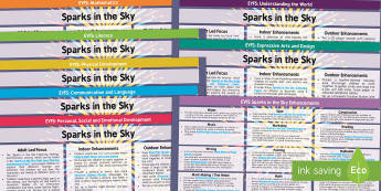 EYFS Sparks in the Sky  Lesson Plan and Enhancement Ideas - EYFS, Early Years Planning, Adult Led, Continuous Provision, Enhancements, Twinkl Originals, Twinkl
