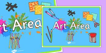 Art Area Display Poster A4 - art area, art, area, art and design, display poster, display, poster