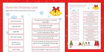 Christmas Carols Activity Sheet - christmas, carol, activity, quiz