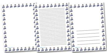 Boy Touching Cat Portrait Page Borders- Portrait Page Borders - Page border, border, writing template, writing aid, writing frame, a4 border, template, templates, landscape