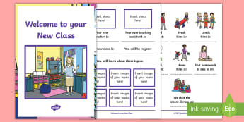 Welcome to Your New Class Booklet - welcome, new class, booklet