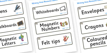 Rhino Themed Editable Writing Area Resource Labels - Themed writing resource labels, literacy area labels, writing area resources, Label template, Resource Label, Name Labels, Editable Labels, Drawer Labels, KS1 Labels, Foundation Labels, Foundation