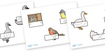 The Ugly Duckling Self Registration (Editable) - The Ugly Duckling, Hans Christian Andersen, Andersen, fairy tale, Self registration, register, editable, labels, registration, child name label, printable labels, Danish, bird, barnyard, swan, beautifu