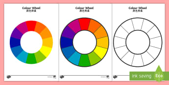 Colour Wheel Activity English/Mandarin Chinese - Colour Wheel - colour, colour wheel , spectrum, primary colour, secondary colour, chart, complimenta
