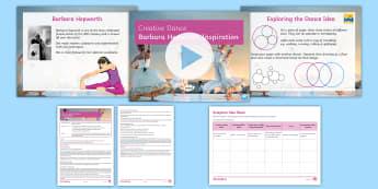 Creative Dance: Barbara Hepworth Inspiration Lesson Pack - dance, choreography, KS3 Dance, creative dance, motif