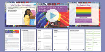 Religion and Social Justice Lesson 6: Sexuality - Sexuality, homosexuality, Homophobia, Gender, Sex, ethics, pshe, religion, social, KS4, GCSE