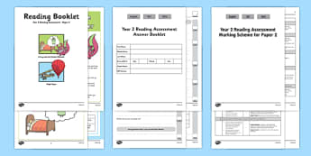 Year 2 Reading Assessment Paper 2 Term 1 - reading, assessment, paper 2, pack, year 2