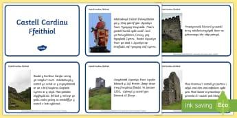 Castell Dolwyddelan Cardiau Ffeithiol, Dolwyddelan, Gogledd Cymru, North Wales, Edward I, Edward y cyntaf, Owain Glyndwr.,