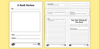 Book Review Booklet - book review, booklet, books, review, what happened, story, plot, reviewing, notpad