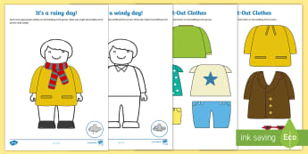 Dress the Person for the Weather Cut-Out Activity - weather