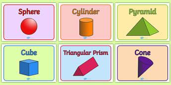 Editable Class Group Names (3D Shapes) - 3D shapes, group signs, group labels, group table signs, table sign, teaching groups, class group, class groups, table label