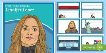 Great Minds on Display: Jennifer Lopez Display Pack - Hispanic, National Hispanic Heritage Month,  Latino, Diversity, Dancer, Singer, Actor, JLo