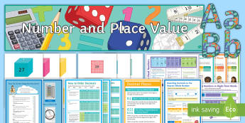 KS3 Half Term 1: Number and Place Value Display Pack - decoration, maths, classroom, Learning wall, resources, hints, tips, methods