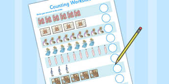 The Tale of Two Bad Mice Counting Sheet - two bad mice, counting