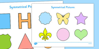 Symmetrical Pictures Pack - EYFS, KS1, symmetry, maths, shape, space, measure, butterfly