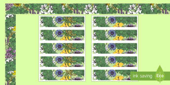 Vines and Flowers Display Borders - Classroom, Display, Floral, flower, plants, petal,
