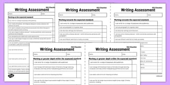 *NEW* Y6 'I Can' Writing Assessment Exemplification Checklists   - year 6, English, literacy, new curriculum, objectives