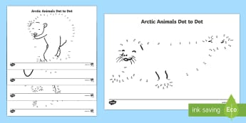 Arctic Animals Dot to Dot Activity Sheets - The Arctic, Polar Regions, north pole, south pole, explorers, worksheet