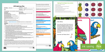 EYFS Halving Fruit Adult Input Plan and Resource Pack - EYFS Number ELG, mathematics, early years, EYFS Planning, Adult led, halving, half, amount, equal, n