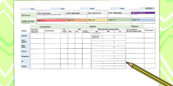Weekly Plan Template for Foundation Subjects - lesson plan, planning