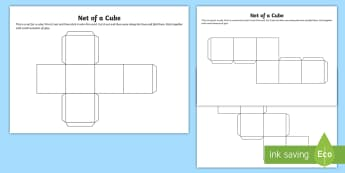 Net of a Cube - net, cube, platonic solids, activity, building, creative