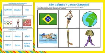 Gêm Cyfateb Y Gemau Olympaidd Game-Welsh