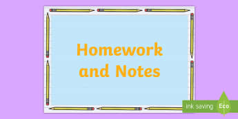 * NEW * Homework and Notes Pencil Display Poster - Pencil Page Border - writing frame, writing aid, writing template, pageborders, boardered paper, pag