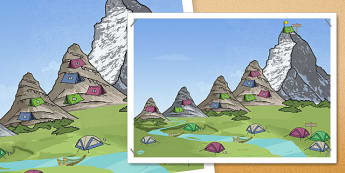 Rivers and Mountains Journey A2 Poster - rivers, mountains, journey, poster