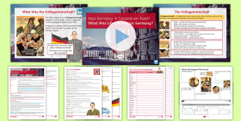 Life in Nazi Germany Lesson Pack - totalitarian, propaganada, terror, gestapo, goebbels, himmler, hilter, nazi germany, concentration c