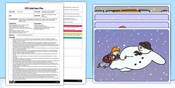 Movement Activity EYFS Adult Input Plan and Resource Pack to Support Teaching on The Snowman - EYFS, Early Years, planning, Christmas,Raymond Briggs, The snowman, winter, maths, number, snow