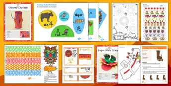 KS1 Chinese New Year Craft Activity Pack - Zodiac, Animals, Lantern, Blossom, Fireworks