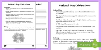 National Day Celebrations Activity Sheet - UAE National Day, National day, UAE Celebrations, UAE Holdiays, UAE, worksheet