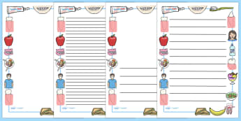 Teeth And Eating Page Borders - teeth, eat, mouth, tongue, eating, tooth, toothpaste, mouthwash, toothbrush, display border, classroom border, border, dental, dentures, dental floss, dentist, sweet, savoury, healty, food, use your toothbrush, taste,