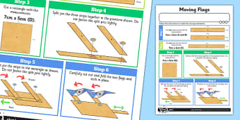 Making Levers and Linkages: Moving Flags Activity Sheet - Go Green, Eco, recycle, warrior, environment, worksheet