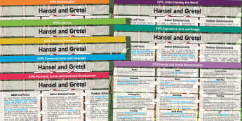 Hansel and Gretel EYFS Lesson and Enhancement Plan Ideas - planning, lesson ideas, plans