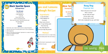 Playdough Bear  Busy Bag Prompt Card and Resource Pack - eyfs, early years, toddler play, bears, teddy, table activity, quiet time