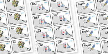 Magpie Themed Editable Book Labels - Themed Book label, label, subject labels, exercise book, workbook labels, textbook labels