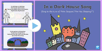 In a Dark House Song PowerPoint
