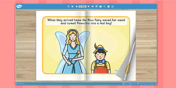 Pinocchio eBook - book, interactive books, traditional tales
