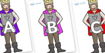 A-Z Alphabet on Kings - A-Z, A4, display, Alphabet frieze, Display letters, Letter posters, A-Z letters, Alphabet flashcards
