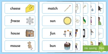 Rhyme Word Cards Early Years (EYFS) - Word Rhyme Early Years (EYFS)