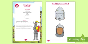 Shiny Knight Sensory Bottle - eyfs, calm down, sensory play, knights, castles, kings, queens
