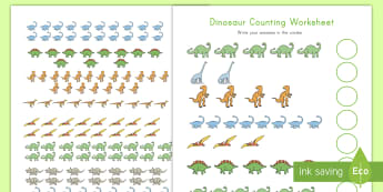 Dinosaur Counting to 20 Activity - count, 1-20, dinosaurs, number skills, maths center, number recognition